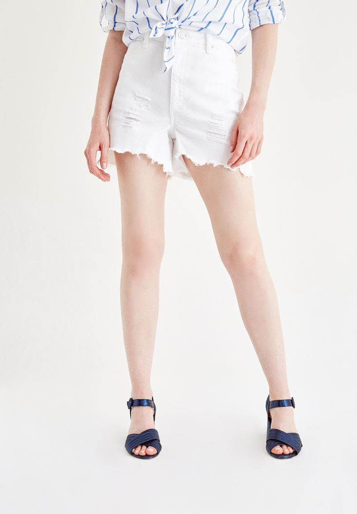 Damaged Denim Shorts : OXXO