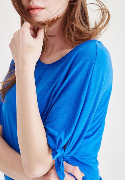 Blouse With Arm Detailed