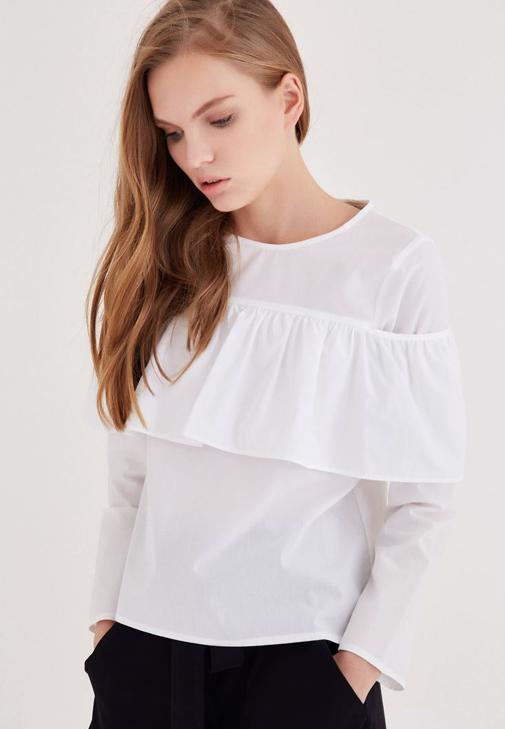 Fırfırlı Gömlek Kombini