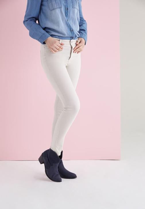 Şal ve Skinny Pantolon Kombini
