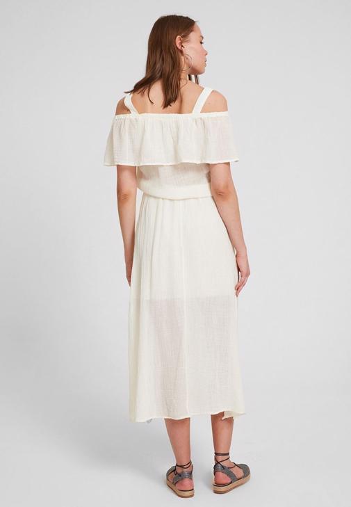 Omuz Detaylı Elbise ve Espadril Kombini