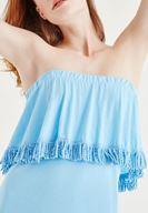 Mavi Elbise ve Mavi Ayakkabı Kombini
