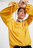 Sarı  Sweatshirt ve Bol Pantolon Kombini