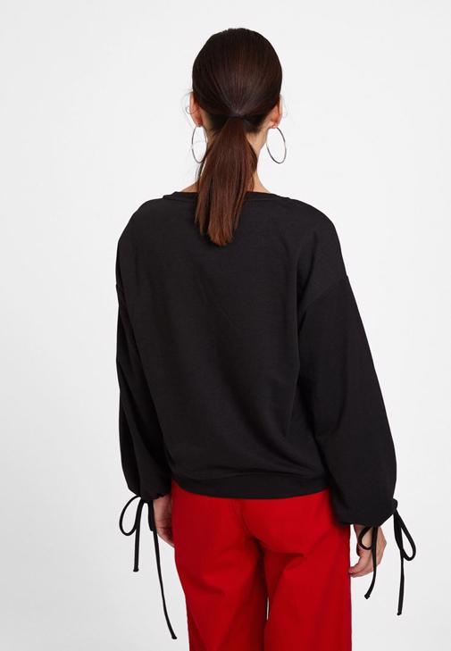 Baskılı  Sweatshirt ve Bol Pantolon Kombini