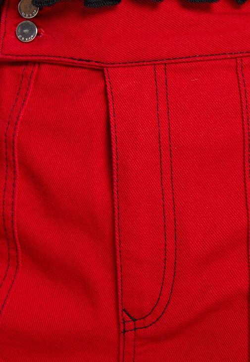 Bol Pantolon ve Dokulu Bluz Kombini