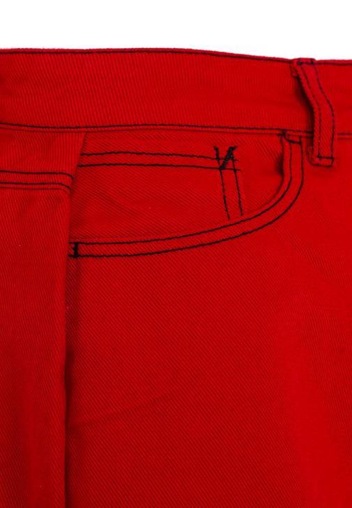 Yırtmaç Detaylı Etek ve Fırfırlı Bluz Kombini