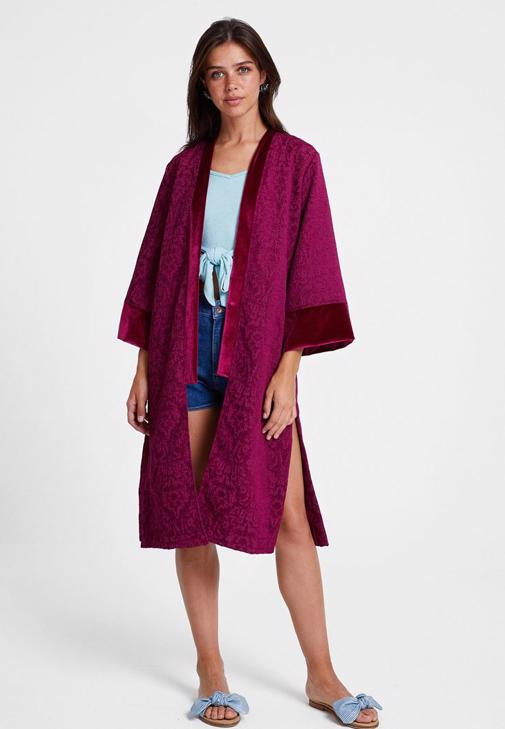 Kimono ve Jean Şort Kombini