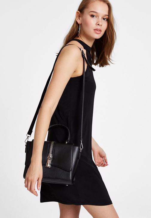 Halter Yaka Mini Elbise Kombini