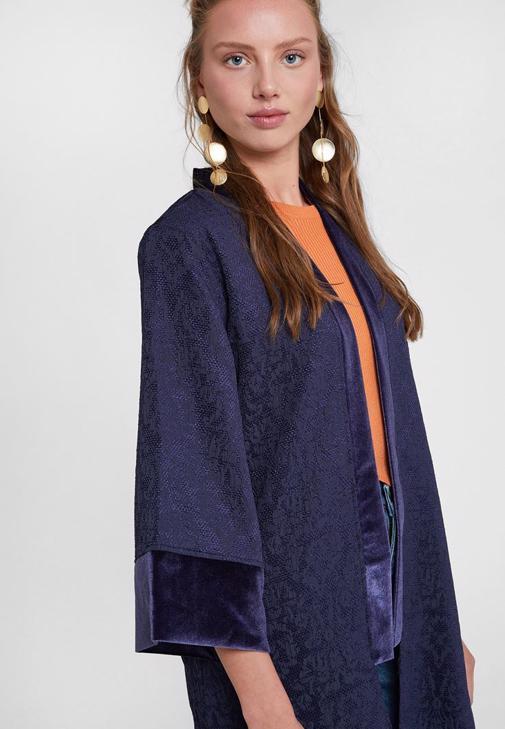 Siyah Pantolon ve Kimono Kombini