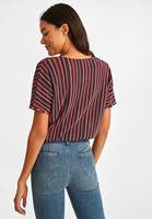 Çizgili Pantolon ve Bluz Kombini