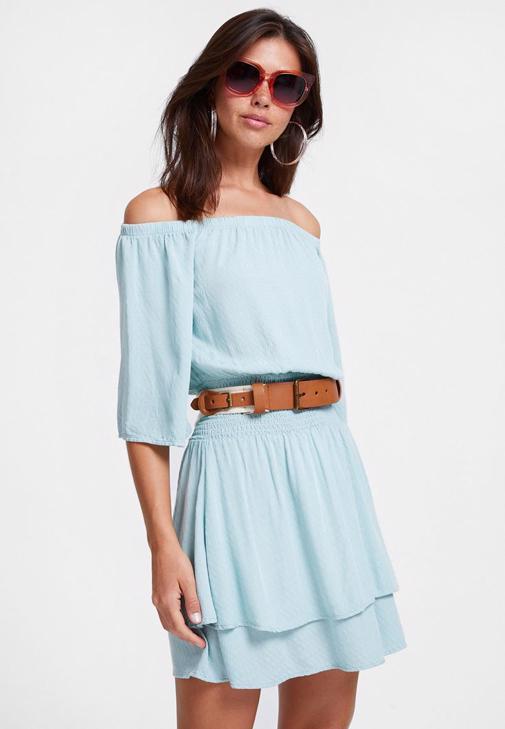 Mavi Elbise ve Espadril Kombini