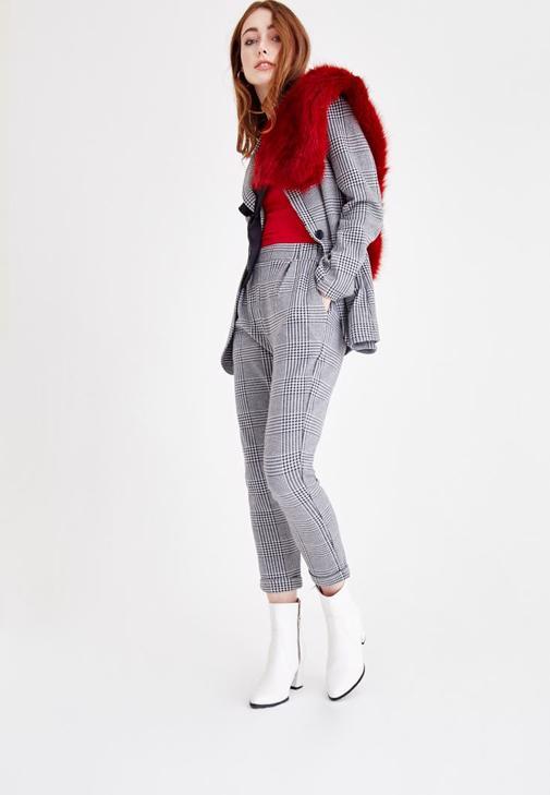 Kazayağı Örme Ceket ve Pantolon Kombini