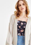 Çiçek Desenli Bluz ve Jean Etek Kombini