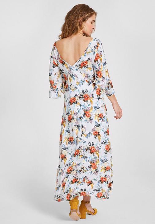 Çiçek Desenli Elbise Kombini