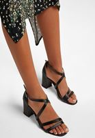 Bant Detaylı Topuklu Ayakkabı
