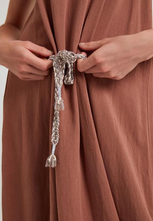 Bağcıklı Elbise Kombini