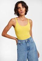 U Yaka Tişört ve Culotte Denim Pantolon Kombini