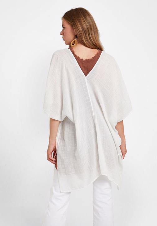 Kimono ve Pamuklu Bluz Kombini