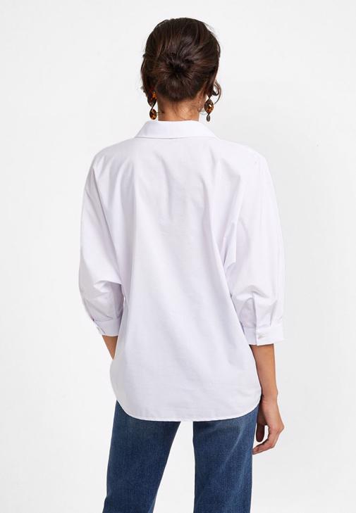 Poplin Gömlek ve Yüksek Bel Pantolon Kombini