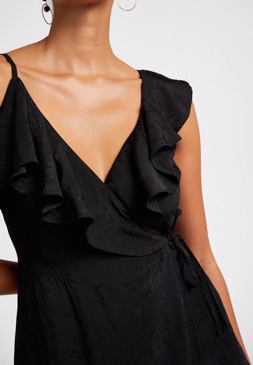 Volanlı Midi Elbise Kombini