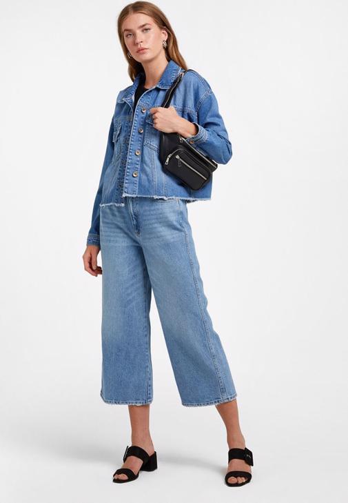 Denim Ceket ve Pantolon Kombini