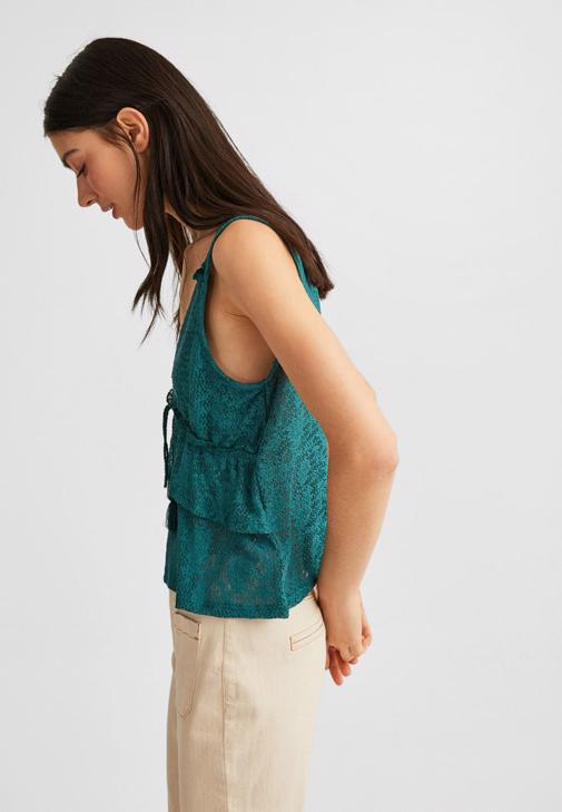 Fırfırlı Bluz ve Yüksek Bel Jean Kombini