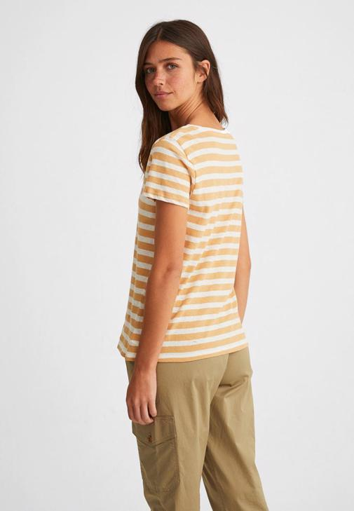 Çizgili Keten Tişört ve Kargo Pantolon Kombini