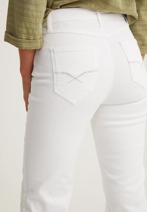 Kesik İspanyol Paça Pantolon ve Gömlek Kombini