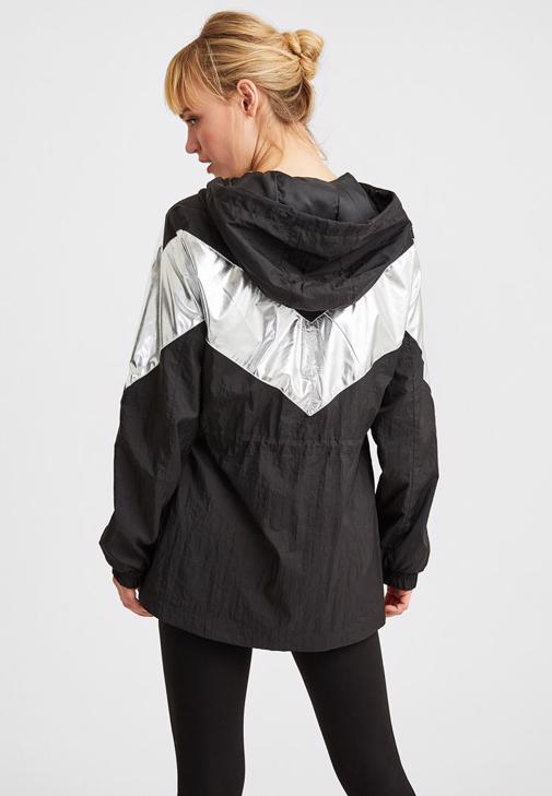 Siyah Blok Renkli Ceket Kombini
