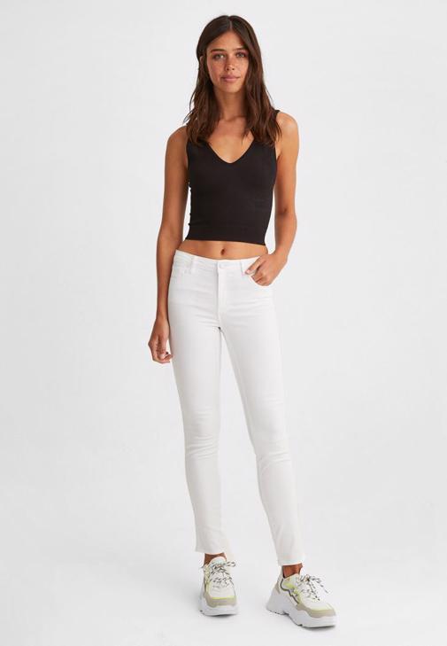 Dikişsiz Crop Top ve Pantolon Kombini