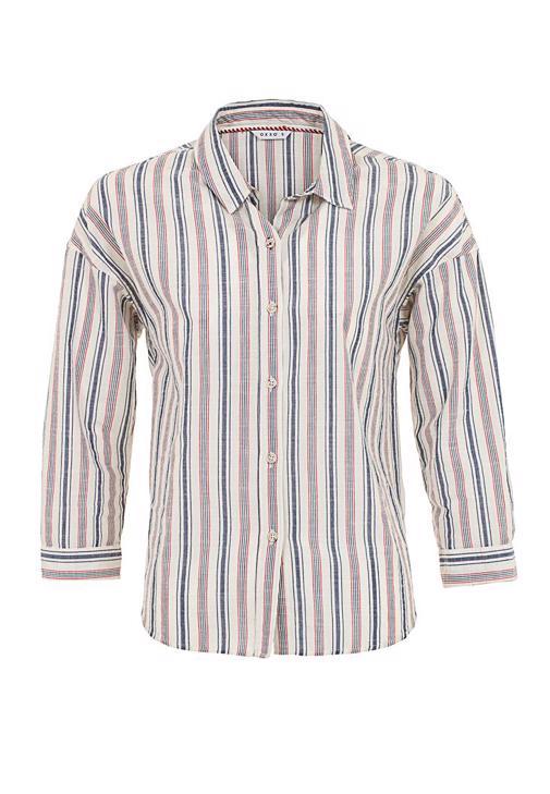 Çizgili Gömlek ve Bol Paça Pantolon Kombini