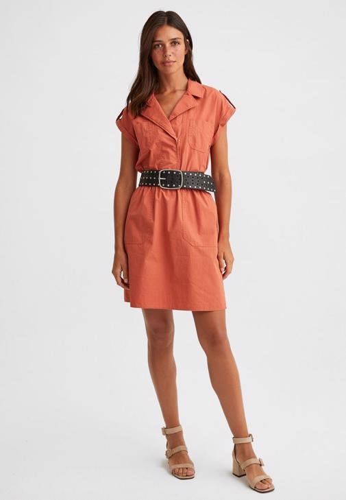 Gömlek Yaka Mini Elbise Kombini