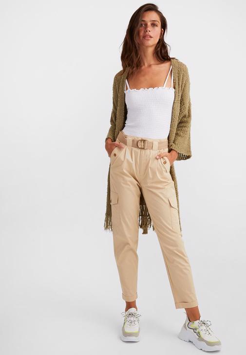 Uzun Hırka Ve Kargo Pantolon Kombini