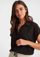 Crop Gömlek ve Mini Etek Kombini