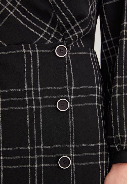 Kruvaze Yaka Mini Elbise Kombini