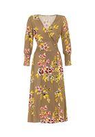 Renkli Çiçekli Uzun Elbise Kombini