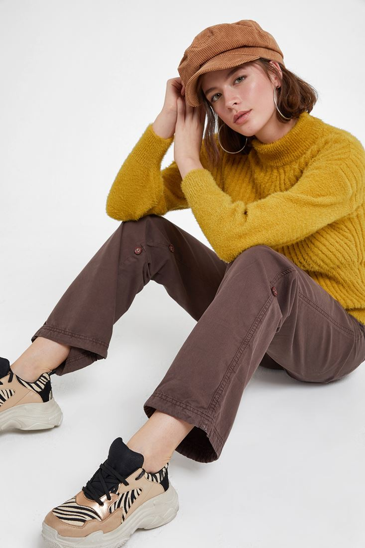 Brown Trousers with Buttons