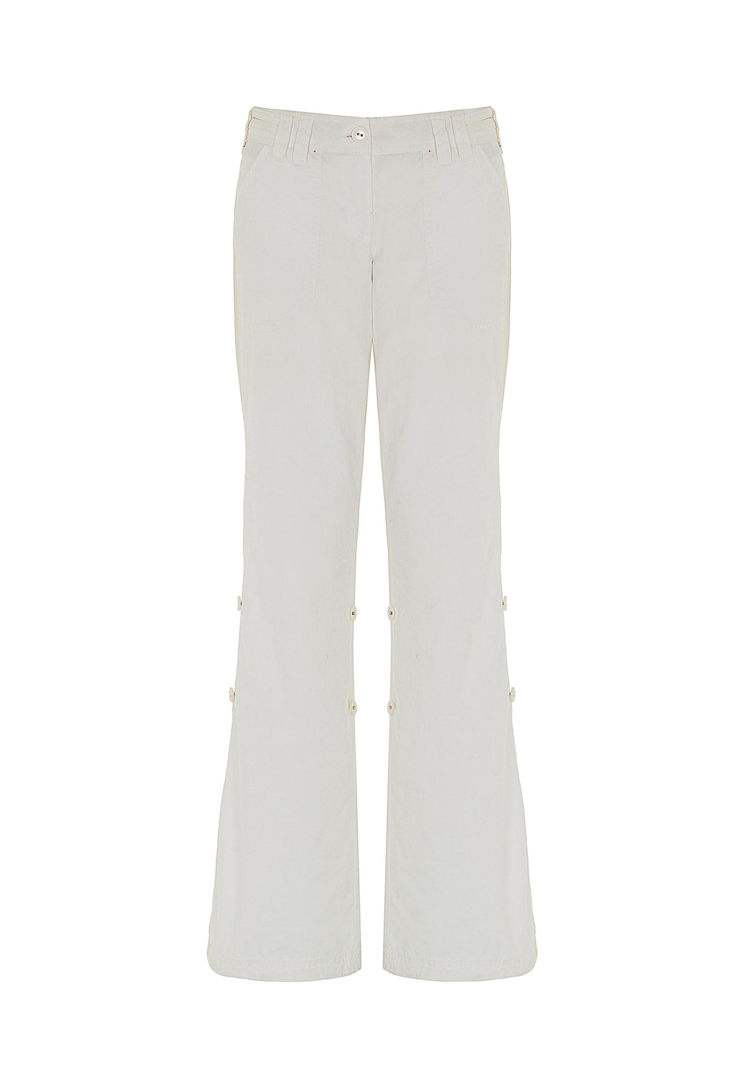 Bayan Beyaz Pantolon
