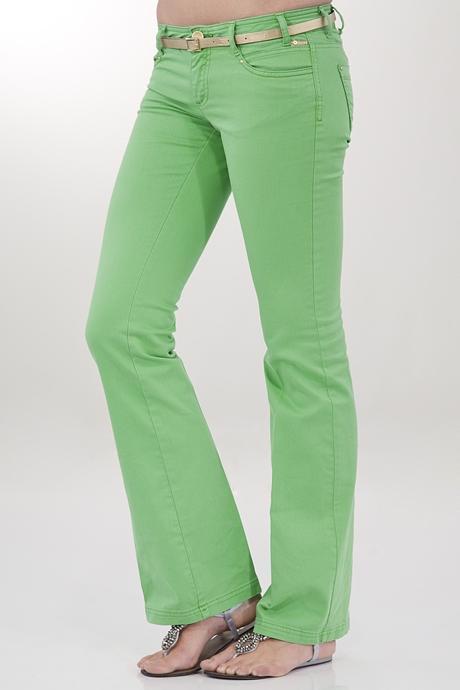 Bayan Yeşil Bol Paça Pantolon