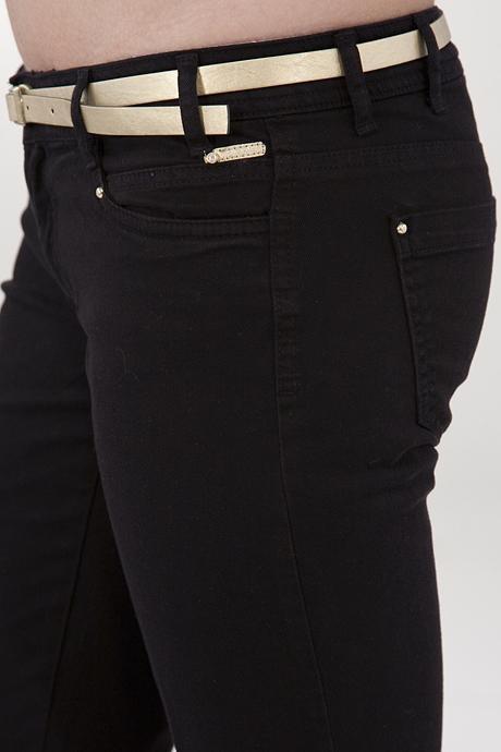 Bayan Siyah Bol Paça Pantolon