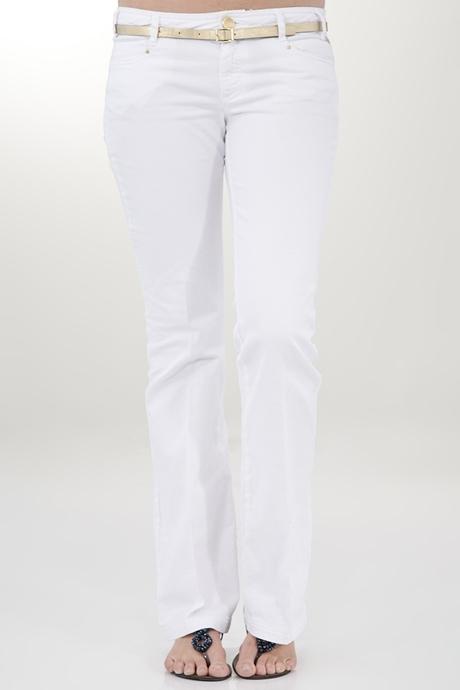 Beyaz Bol Paça Pantolon