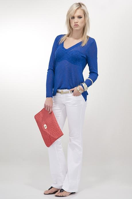 Bayan Beyaz Bol Paça Pantolon