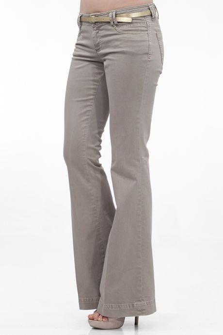 Kahverengi Düşük Bel Geniş Paça Pantolon