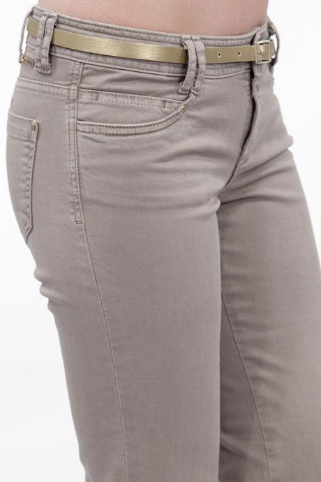 Bayan Kahverengi Düşük Bel Geniş Paça Pantolon