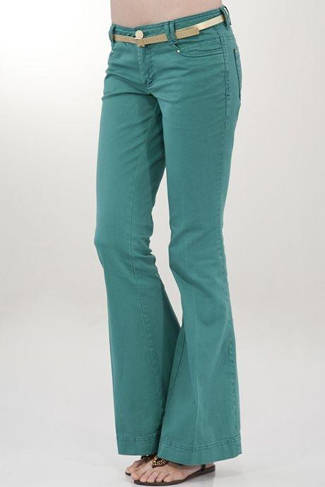 Yeşil Geniş Paça Pantolon