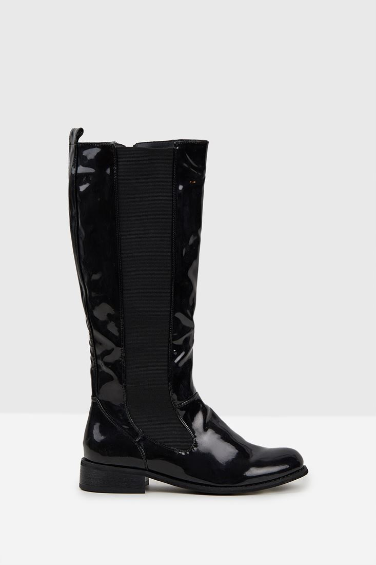 Black Boot with Detail