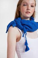 Women Blue Scarf