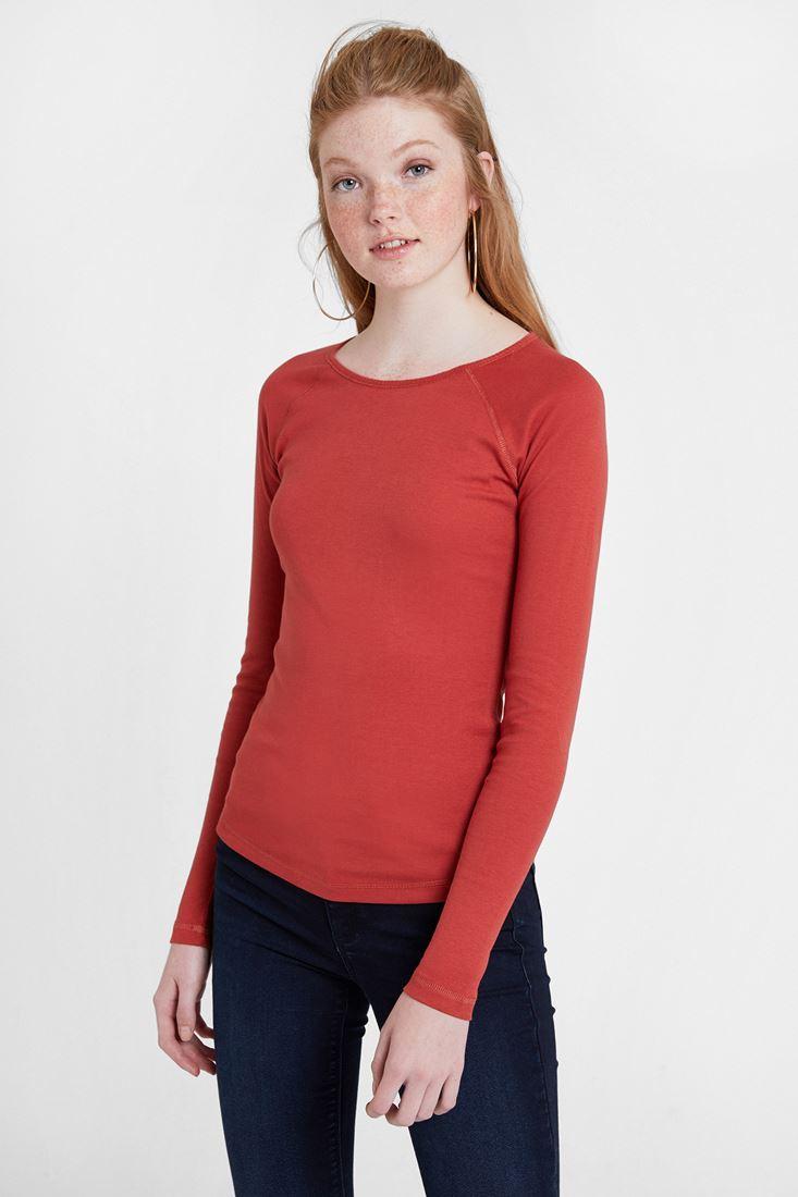 Kırmızı Uzun Kollu Tişört
