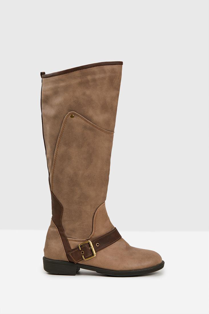 Kahverengi Toka Detaylı Çizme