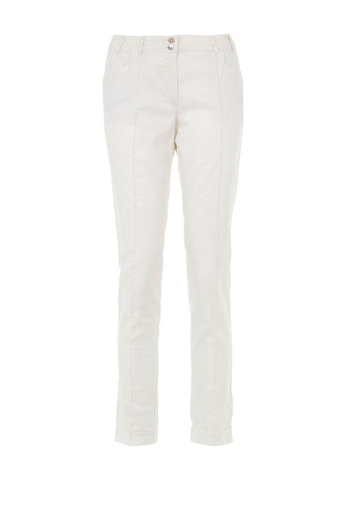 Beyaz Simli Pantolon